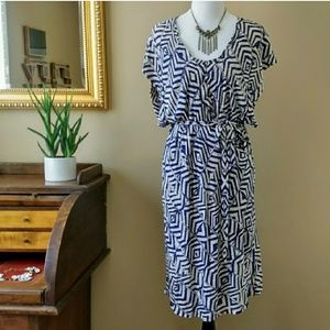 Plenty by Tracy Reese Counting Angles Wrap Dress L